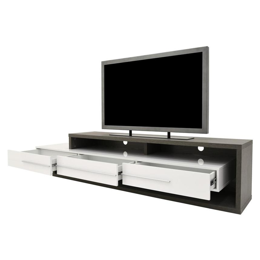 Avanti Gray/White TV Stand  alternate image, 3 of 6 images.