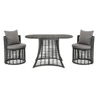 Neilina Gray 3-Piece Patio Bistro Set