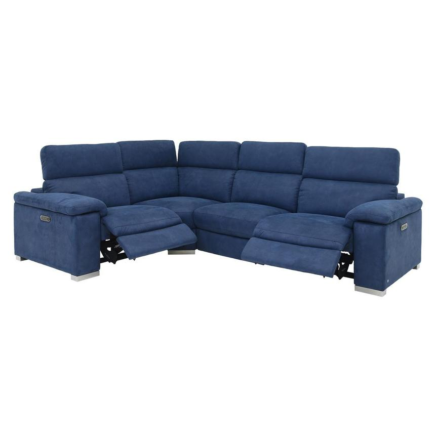 Karly Blue Power Motion Sofa w/Right & Left Recliners  alternate image, 2 of 7 images.
