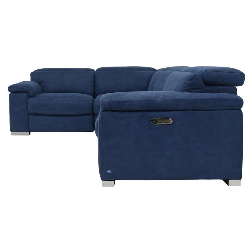 Karly Blue Power Motion Sofa w/Right & Left Recliners  alternate image, 3 of 7 images.