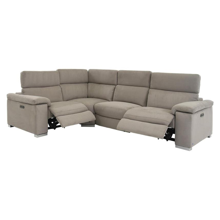 Karly Light Gray Power Motion Sofa w/Right & Left Recliners  alternate image, 2 of 7 images.