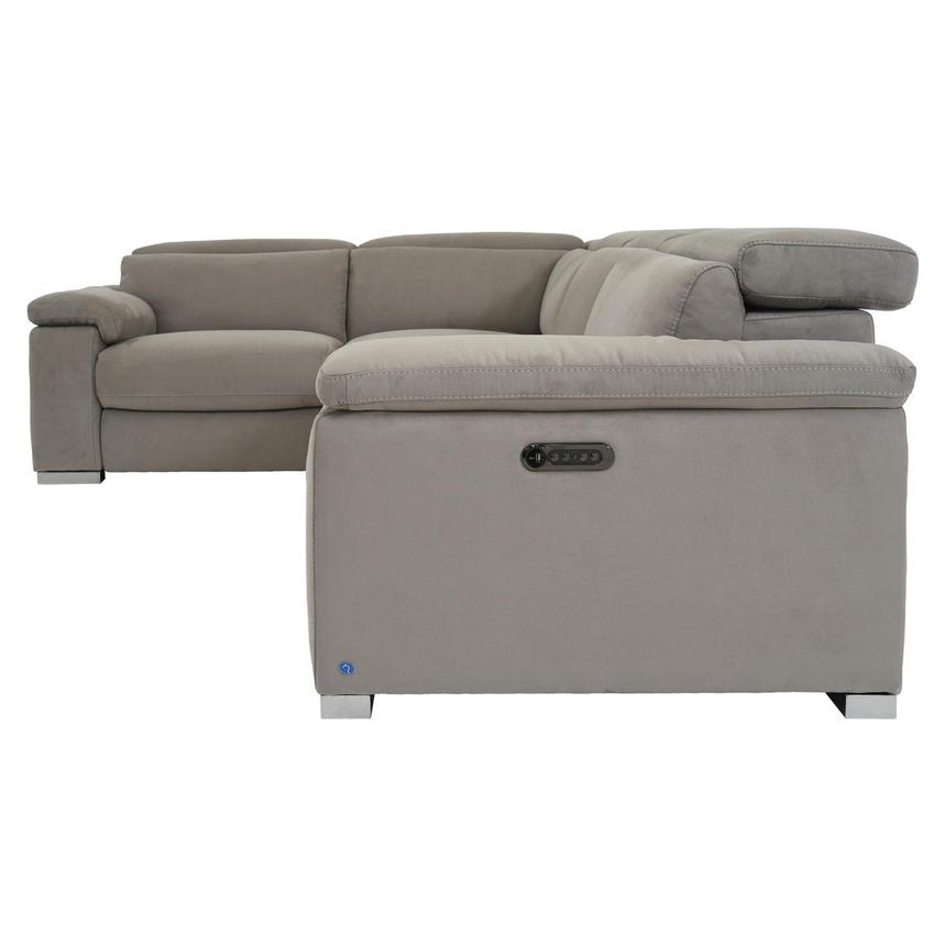 Karly Light Gray Power Motion Sofa w/Right & Left Recliners  alternate image, 3 of 7 images.