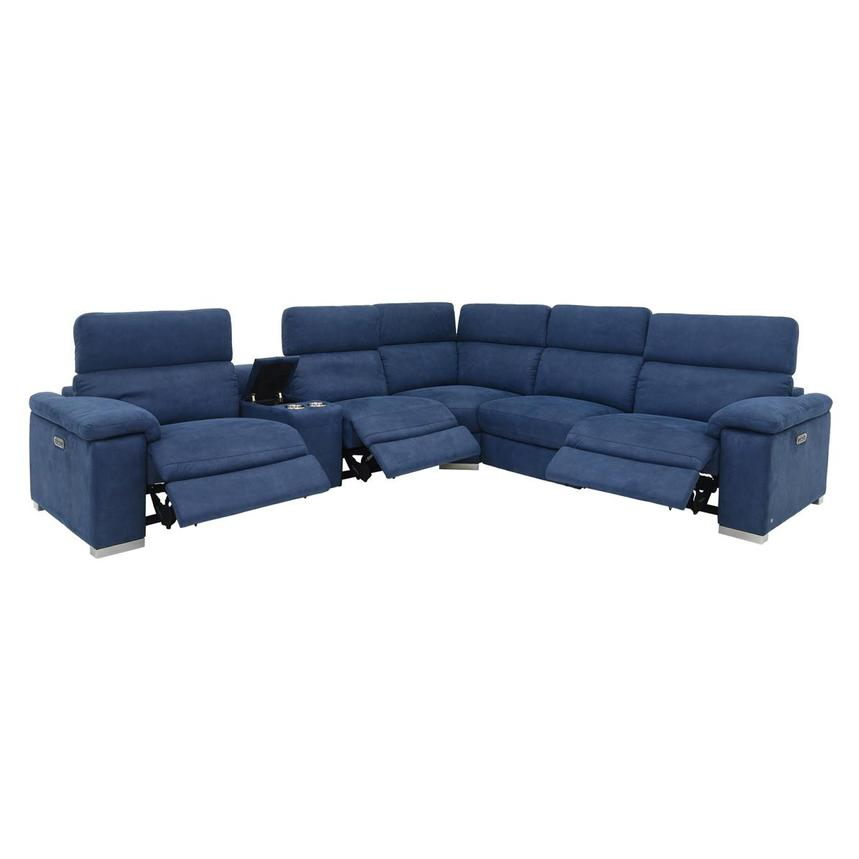 Karly Blue Power Motion Sofa w/Right & Left Recliners  alternate image, 2 of 8 images.