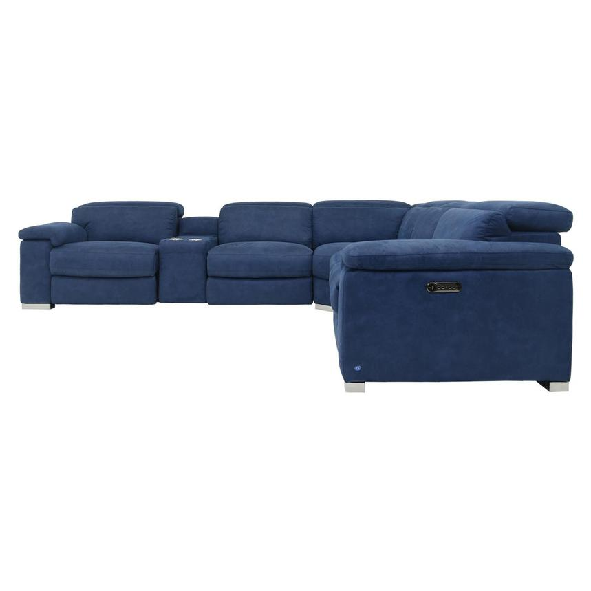 Karly Blue Power Motion Sofa w/Right & Left Recliners  alternate image, 3 of 8 images.
