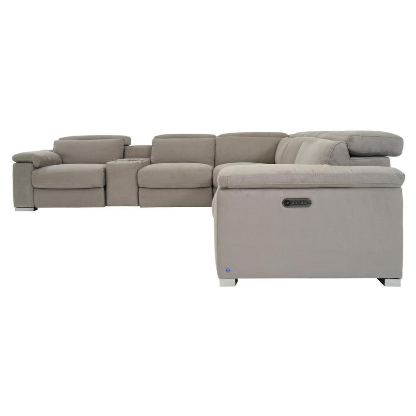 Karly Light Gray Power Motion Sofa w/Right & Left Recliners  alternate image, 3 of 8 images.