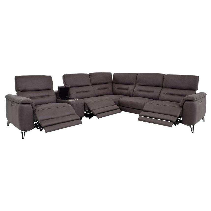 Claribel II Power Motion Sofa w/Right & Left Recliners  alternate image, 2 of 8 images.
