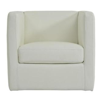 Cute White Leather Swivel Chair