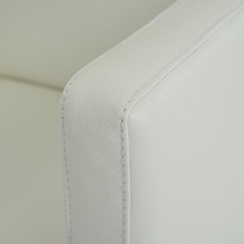Cute White Leather Swivel Chair  alternate image, 4 of 4 images.