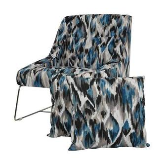 Tutti Frutti Blue Accent Chair w/2 Pillows