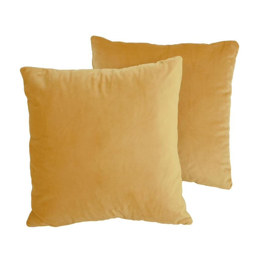 Okru Dark Yellow Two Accent Pillows  main image, 1 of 5 images.