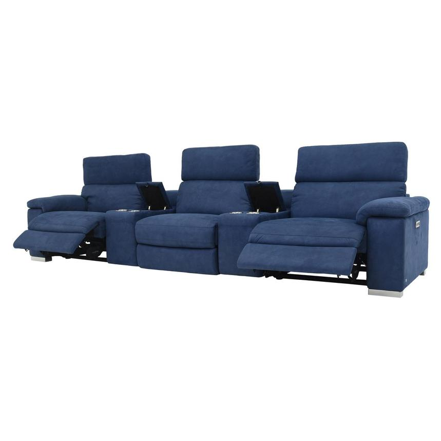 Karly Blue Home Theater Seating  alternate image, 3 of 9 images.
