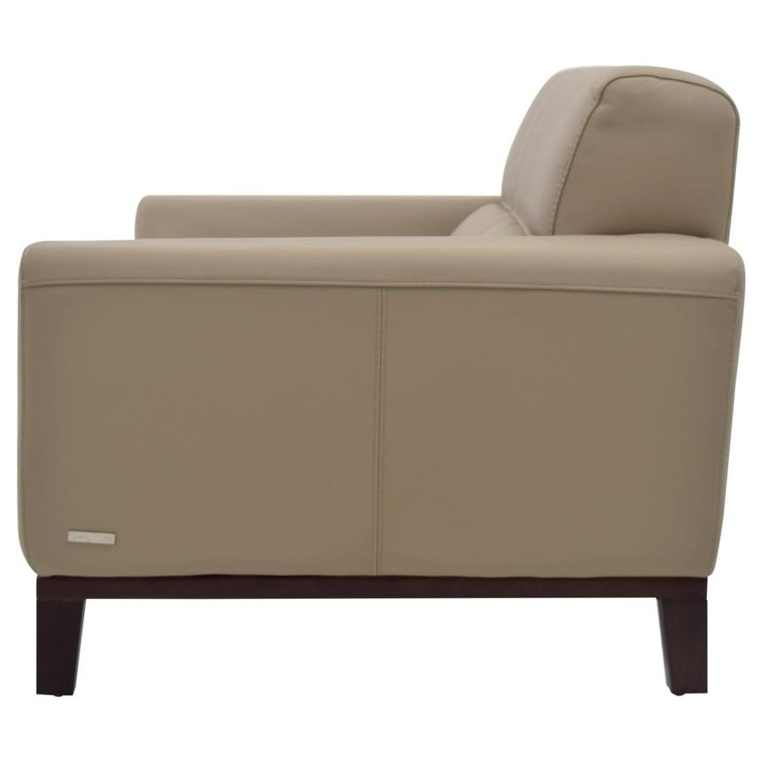 Milani Tan Leather Loveseat  alternate image, 3 of 8 images.