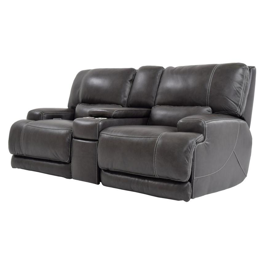 Incredible Colby Leather Power Reclining Loveseat W Console Machost Co Dining Chair Design Ideas Machostcouk