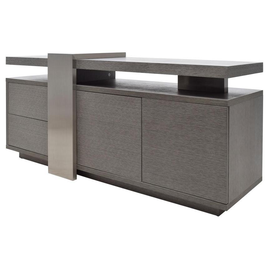 Totem Gray Tv Stand El Dorado Furniture