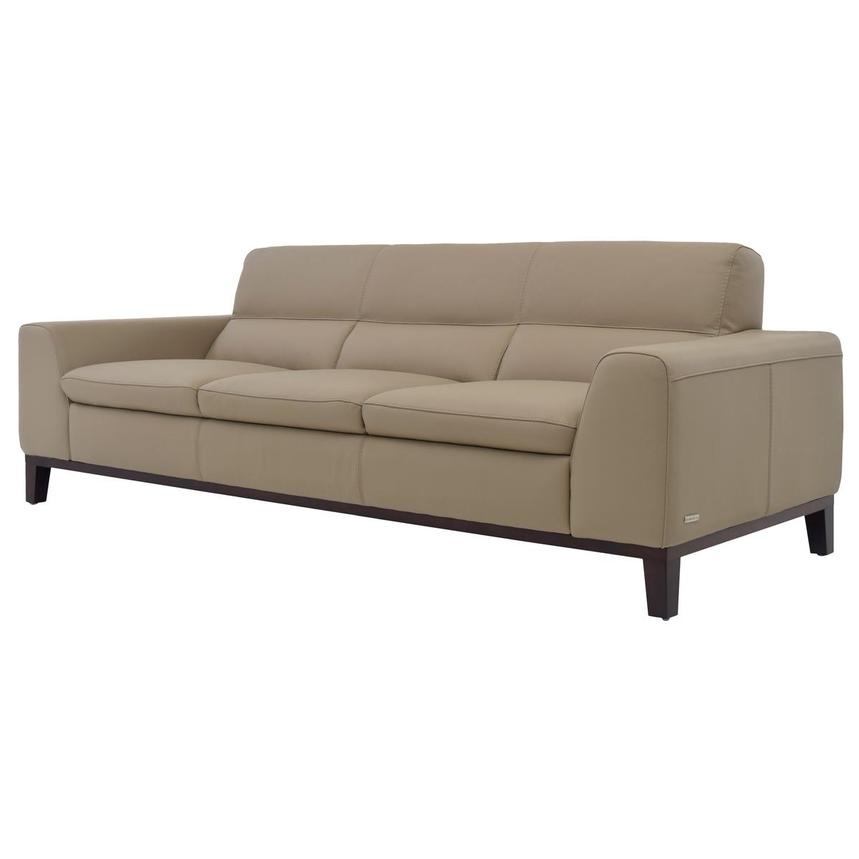 Milani Tan Leather Sofa  alternate image, 2 of 6 images.