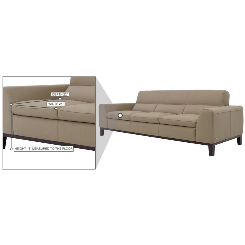 Milani Tan Leather Sofa  alternate image, 7 of 7 images.