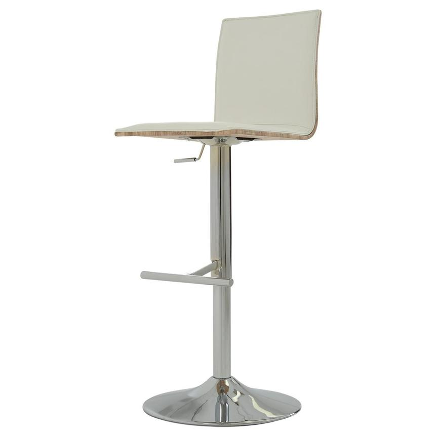 Solimar White Adjustable Stool  alternate image, 3 of 9 images.
