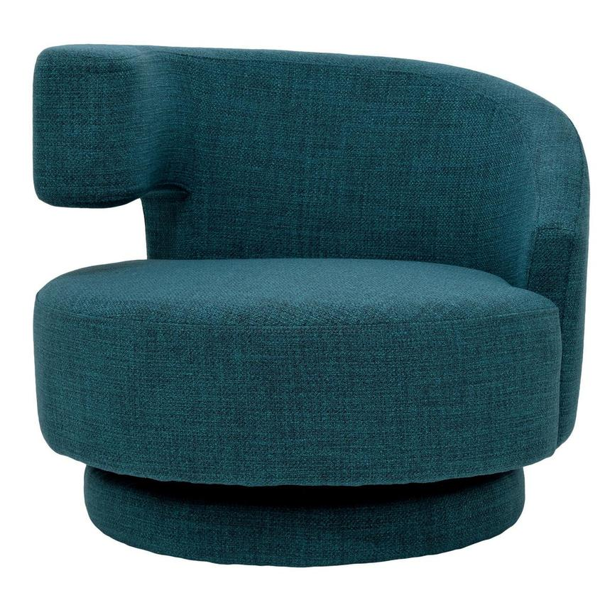 Incredible Okru Blue Swivel Chair W 2 Pillows Unemploymentrelief Wooden Chair Designs For Living Room Unemploymentrelieforg