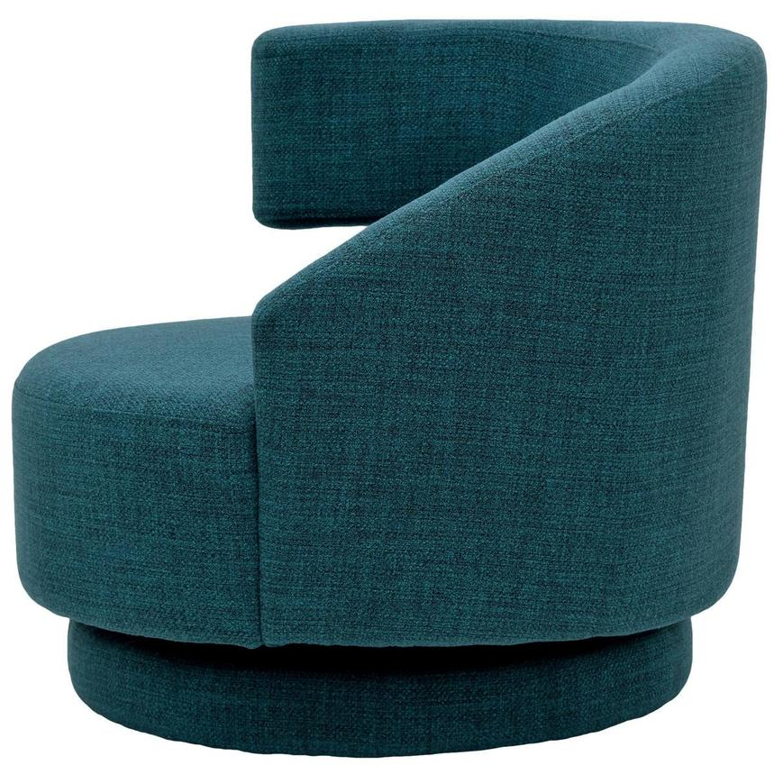 Okru Blue Swivel Chair w/2 Pillows  alternate image, 4 of 11 images.