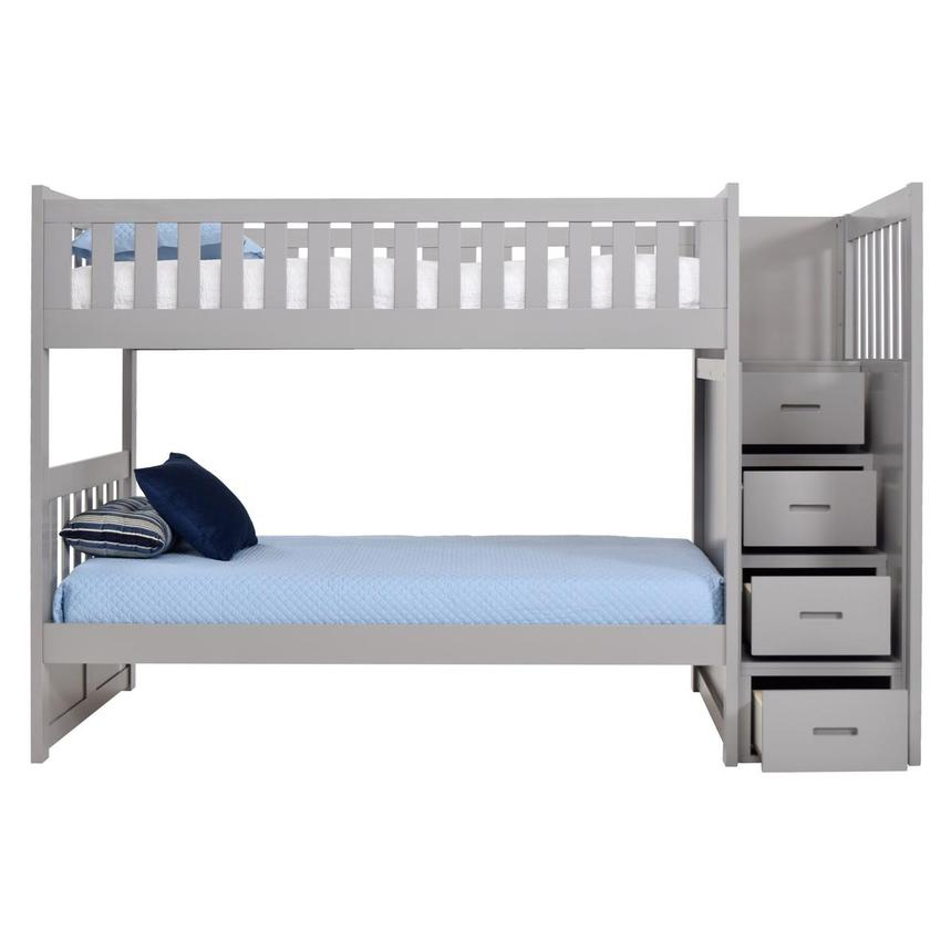 Balto Gray Twin Over Twin Bunk Bed w/Storage  alternate image, 3 of 7 images.