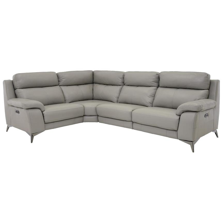Barry Gray Leather Power Reclining Sectional  main image, 1 of 12 images.