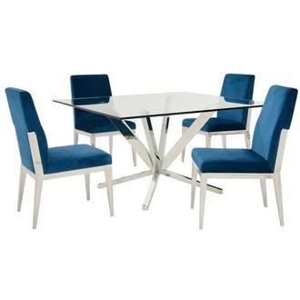 Ghettys I/Met Blue 5-Piece Formal Dining Set