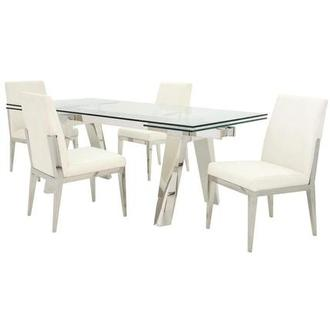 Madox/Met White 5-Piece Formal Dining Set