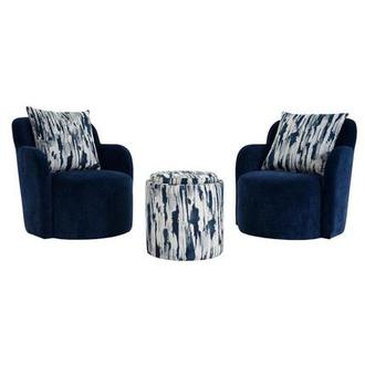 Joey Blue 5-Piece Living Set