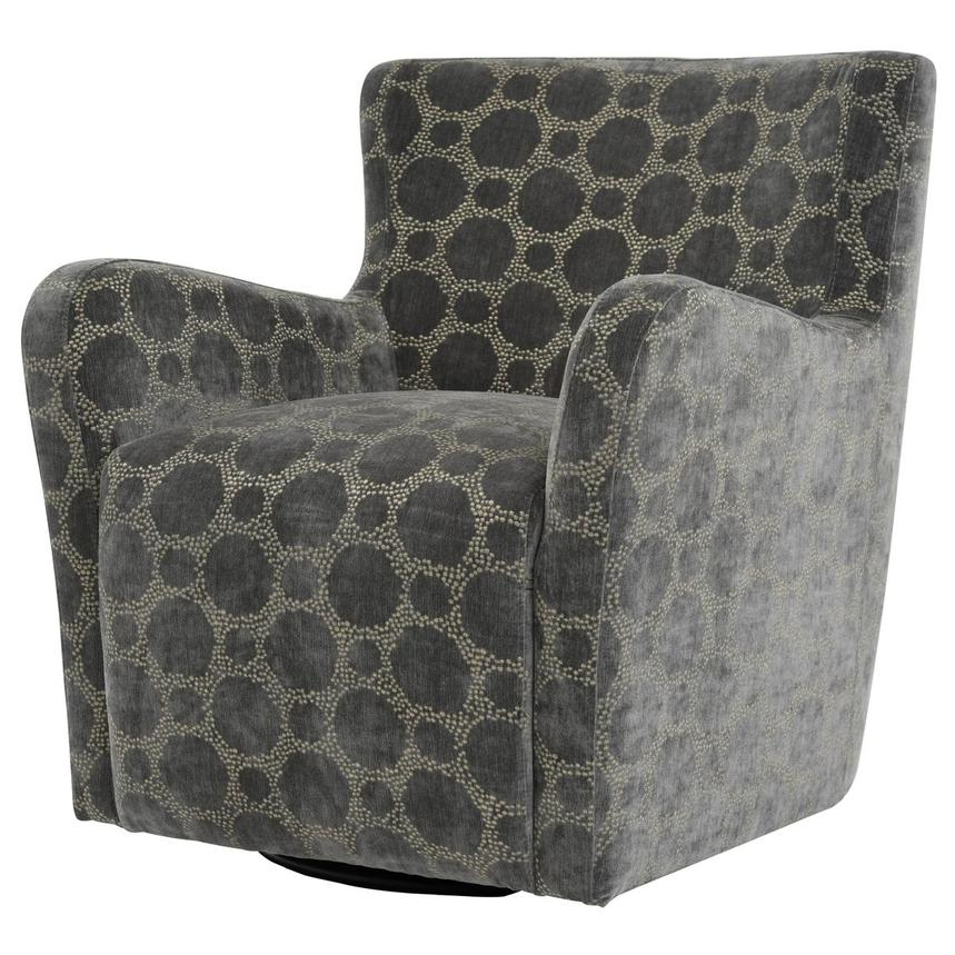Everly Swivel Accent Chair w/2 Pillows  alternate image, 3 of 11 images.