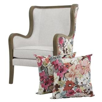Scarlett Pink Accent Chair w/2 Pillows