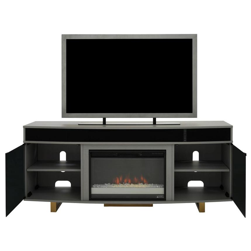 Enterprise Gray Faux Fireplace w/Speakers  alternate image, 2 of 8 images.