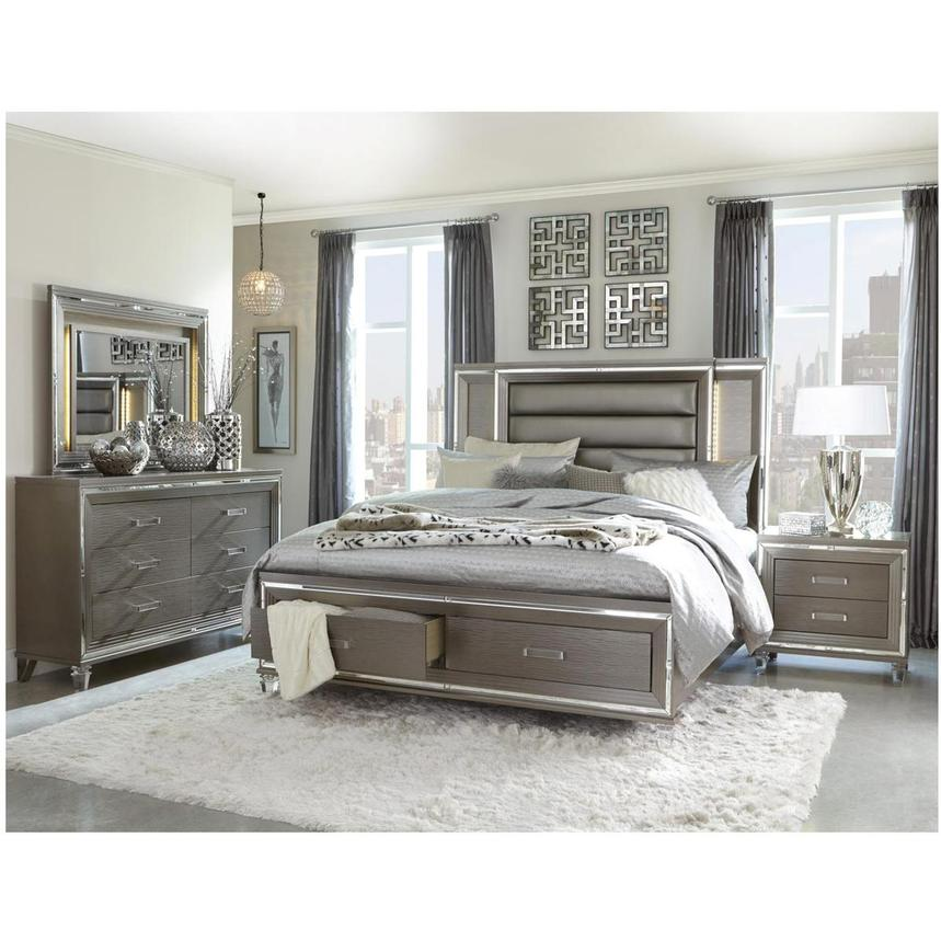 Stephanie Gray King Storage Bed