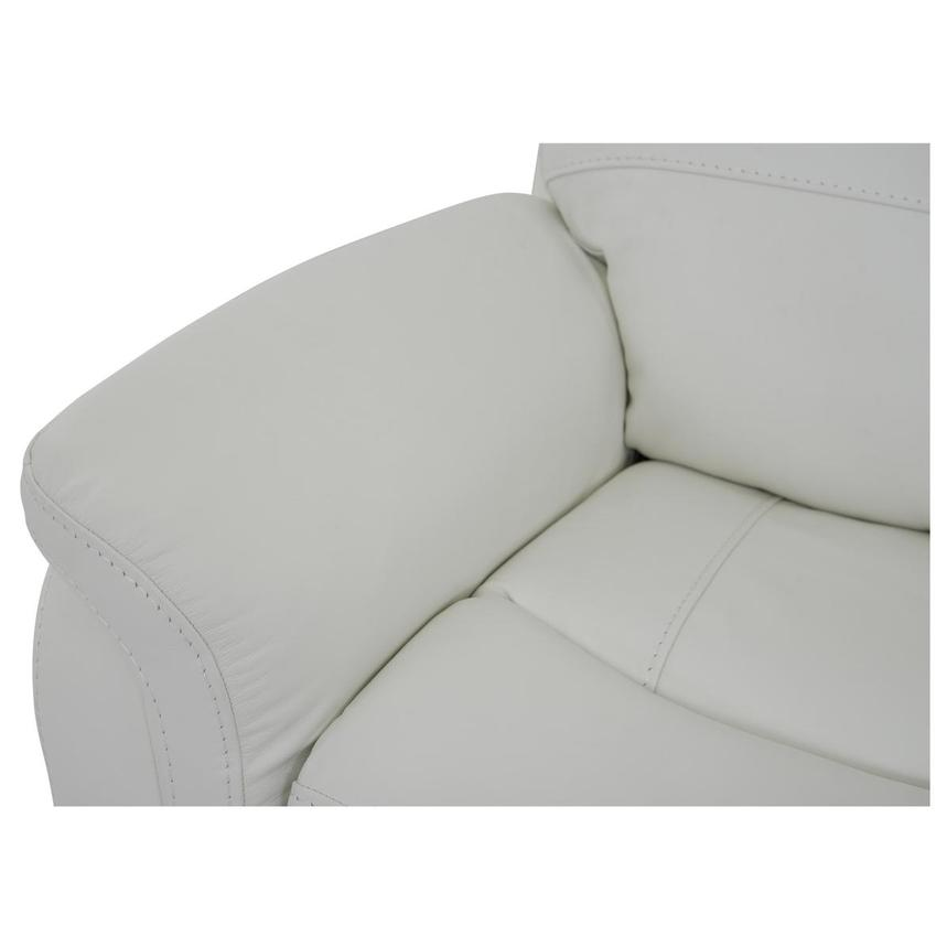 Zane Cream Power Motion Leather Recliner  alternate image, 8 of 9 images.