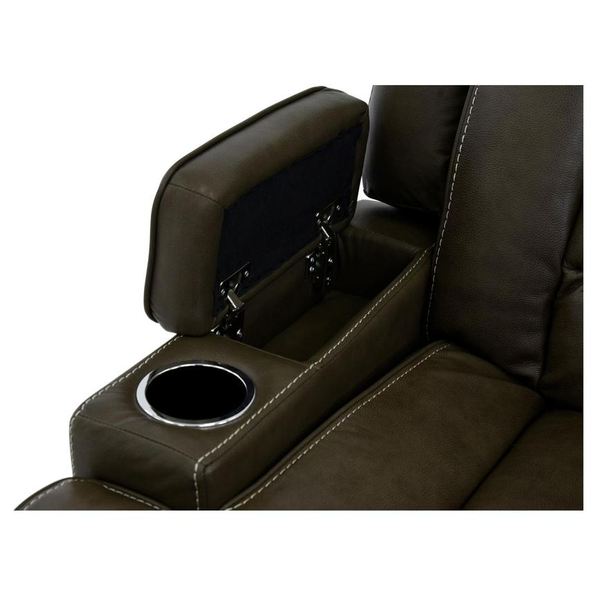 Damon Brown Leather Power Reclining Sofa  alternate image, 8 of 11 images.