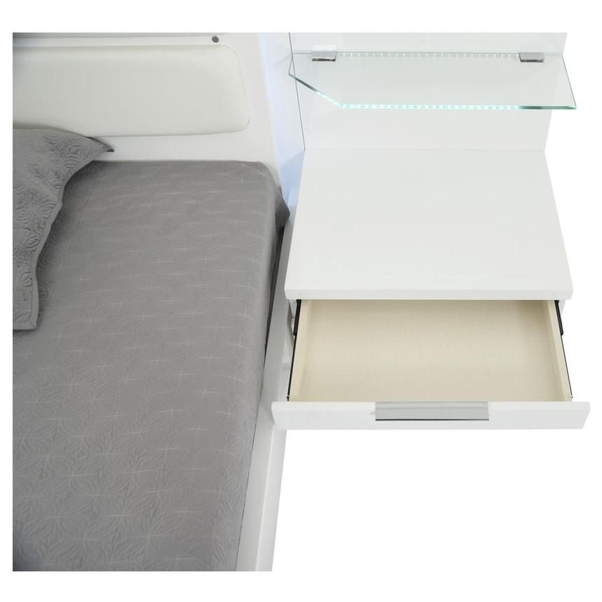 Ally White Queen Platform Bed w/Nightstands  alternate image, 7 of 17 images.