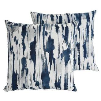 Joey Blue Two Accent Pillows