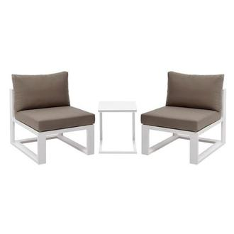 Mykonos Cream 3-Piece Patio Set