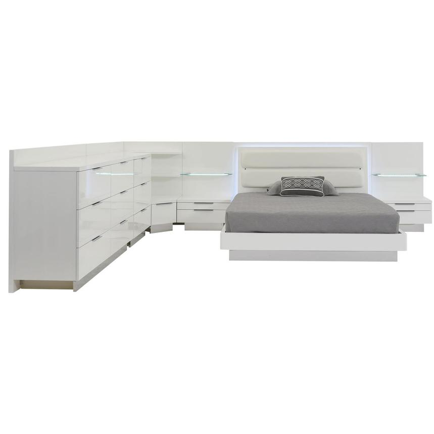 Ally Queen Bed w/2 nightstands, dresser, & corner unit  alternate image, 2 of 7 images.