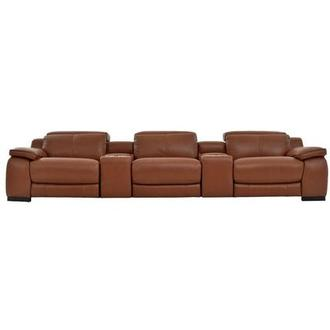 Gian Marco Tan Home Theater Leather Seating