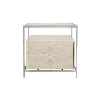 Paradox Nightstand w/Glass Top