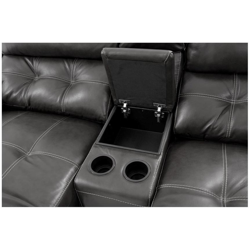Stallion Gray Home Theater Leather Seating  alternate image, 7 of 8 images.