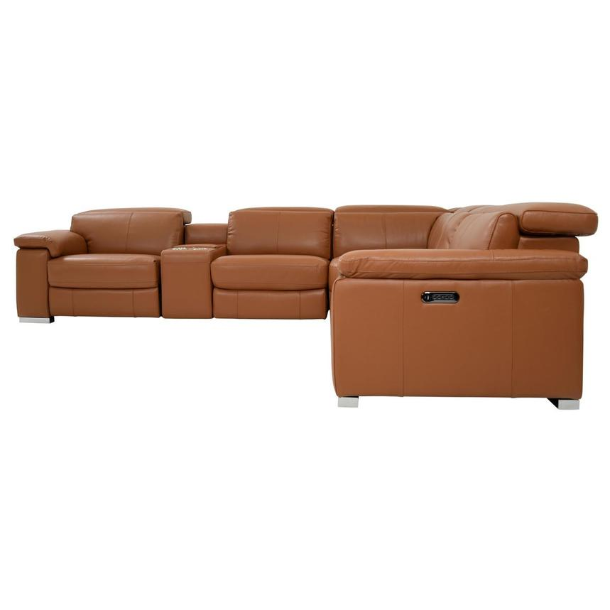 Charlie Tan Power Motion Leather Sofa w/Right & Left Recliners  alternate image, 3 of 10 images.
