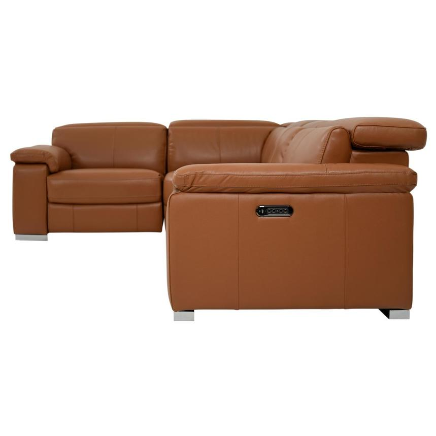 Charlie Tan Power Motion Leather Sofa w/Right & Left Recliners  alternate image, 3 of 9 images.