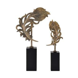 Quill Feathers Set of 2 Sculptures