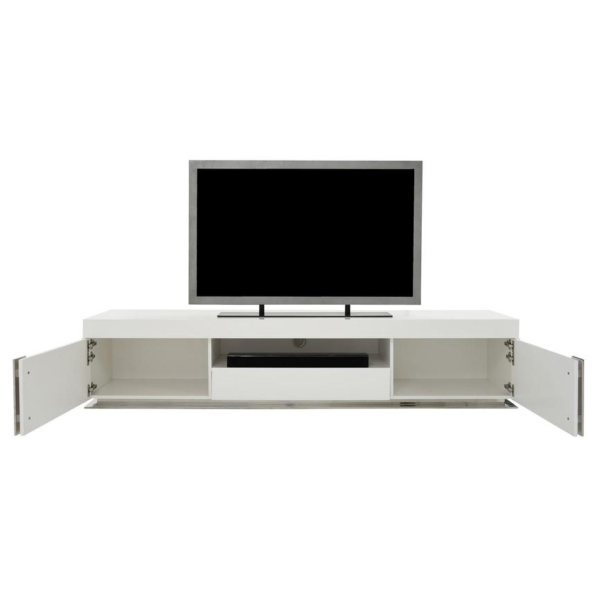 Grand Night White Gloss TV Stand w/Speakers  alternate image, 2 of 10 images.