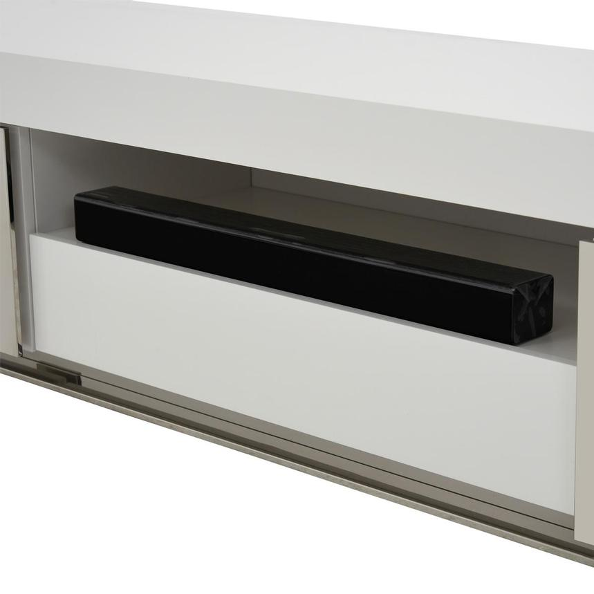 Grand Night White Gloss TV Stand w/Speakers  alternate image, 7 of 9 images.