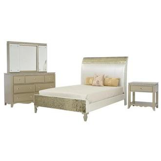 Glitz & Glam 4-Piece Twin Bedroom Set