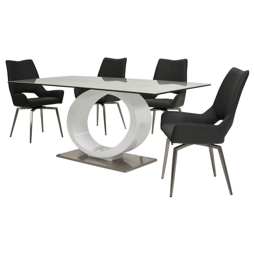 Fenti/Kalia Gray 5-Piece Formal Dining Set  alternate image, 2 of 14 images.