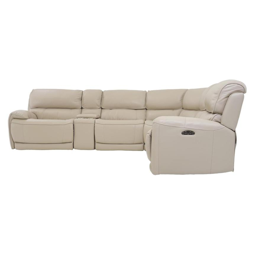 Cody Cream Power Motion Leather Sofa w/Right & Left Recliners  alternate image, 3 of 7 images.