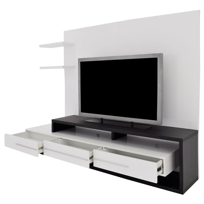 Avanti Dark Oak/White Wall Unit  alternate image, 3 of 6 images.